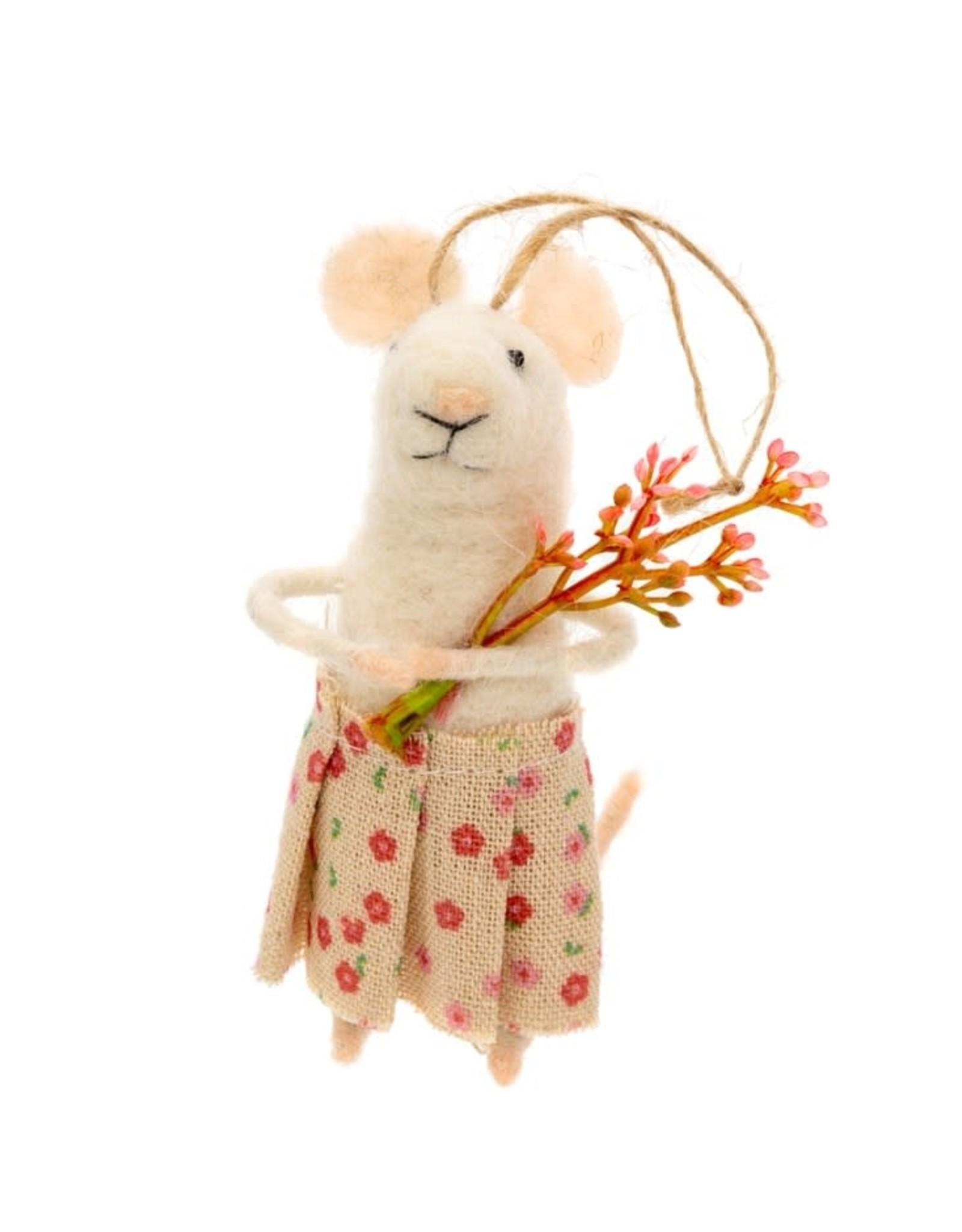 Indaba Posy Mouse Ornament