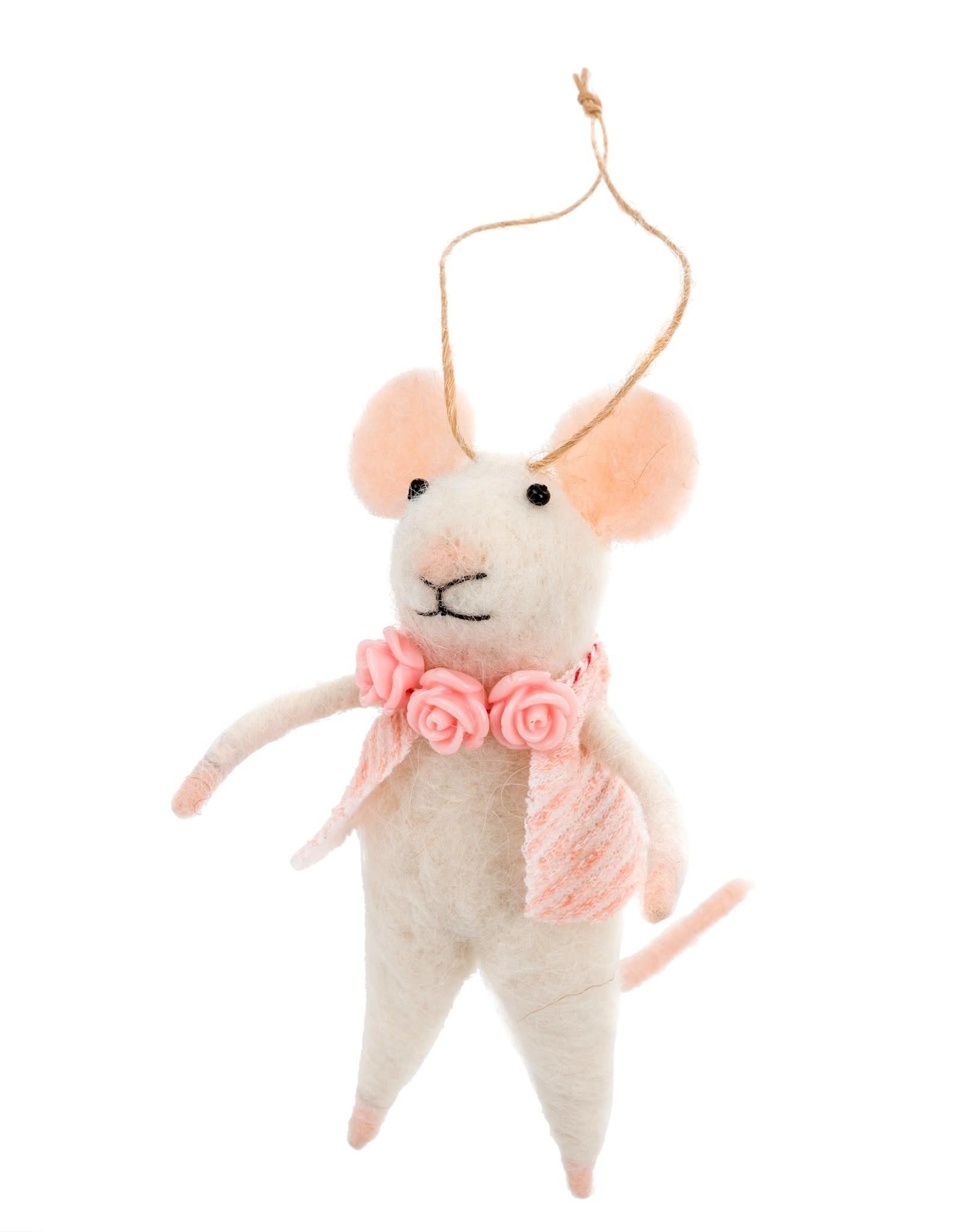 Indaba Primrose Mouse Ornament