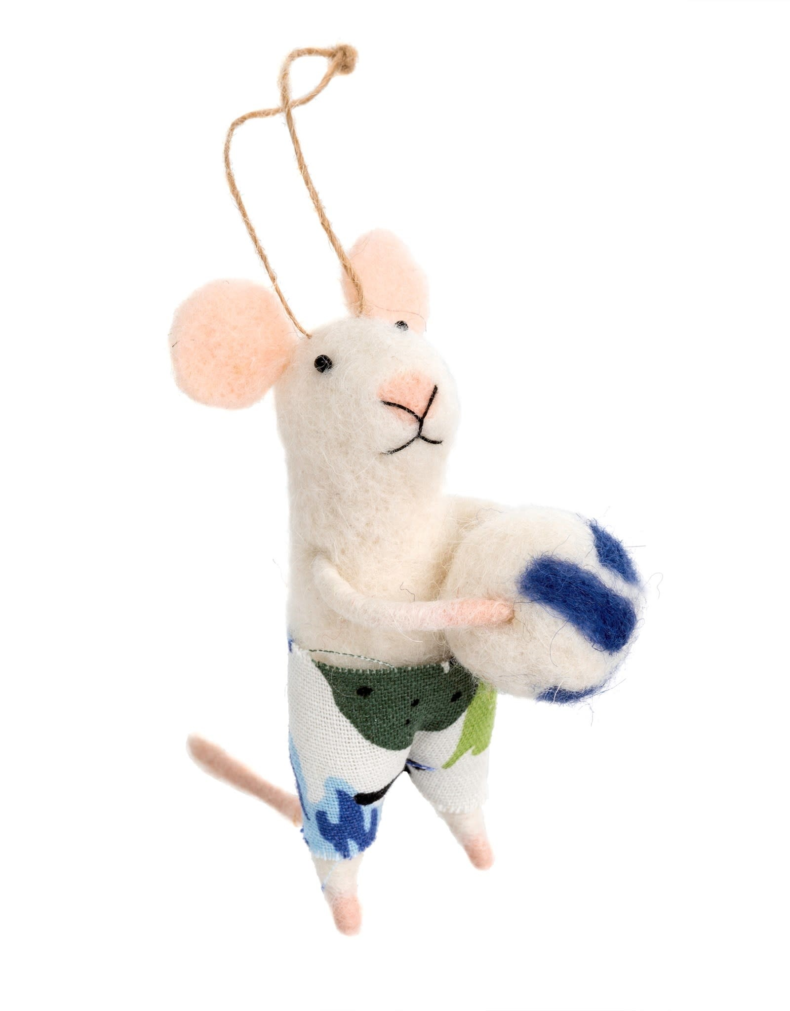Indaba Volleyball Vince Mouse Ornament