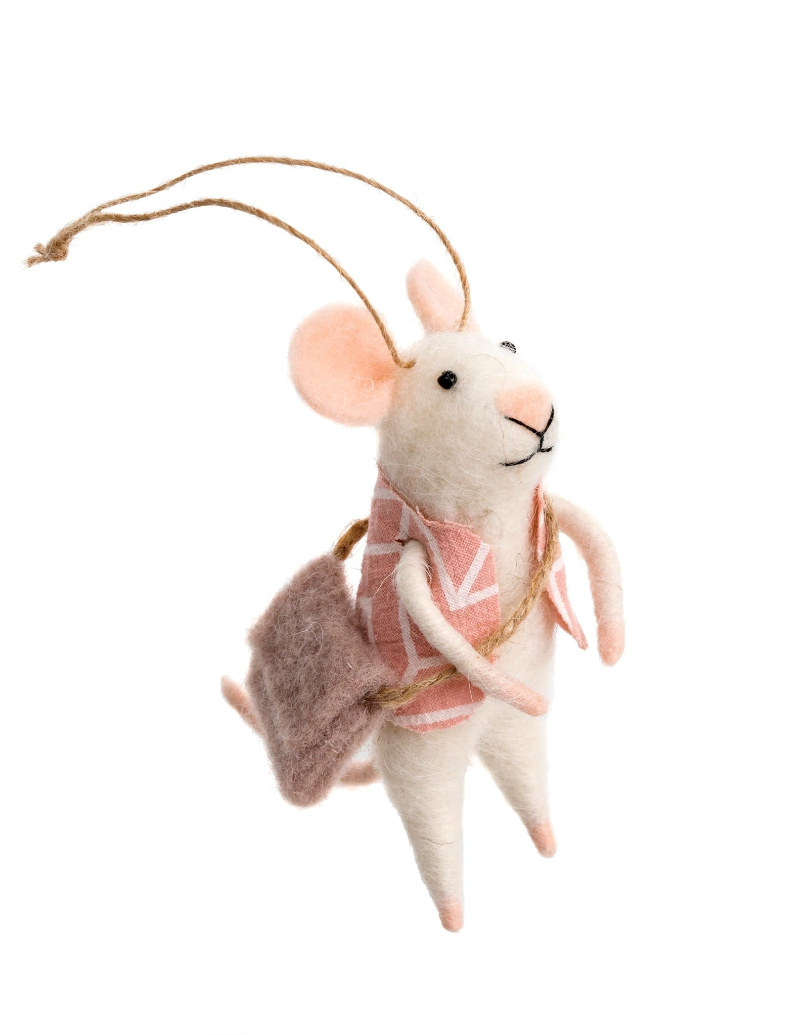 Indaba Wandering Will Mouse Ornament