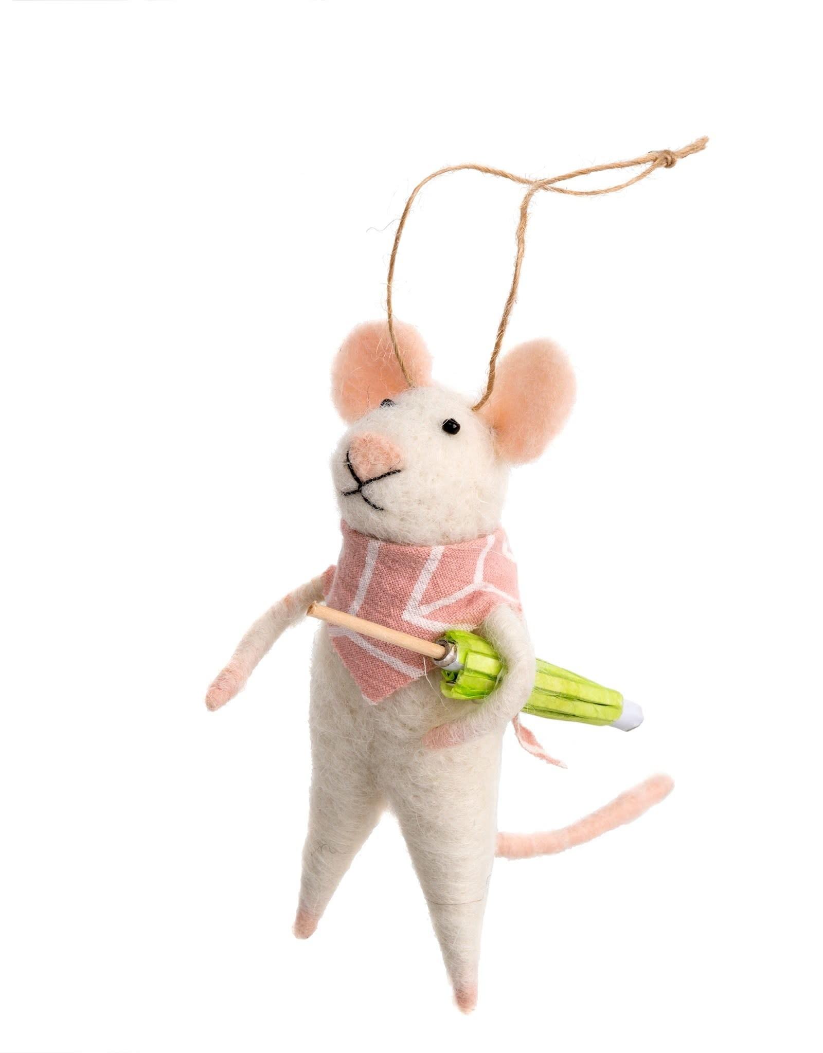Indaba Bandana Bandit Mouse Ornament