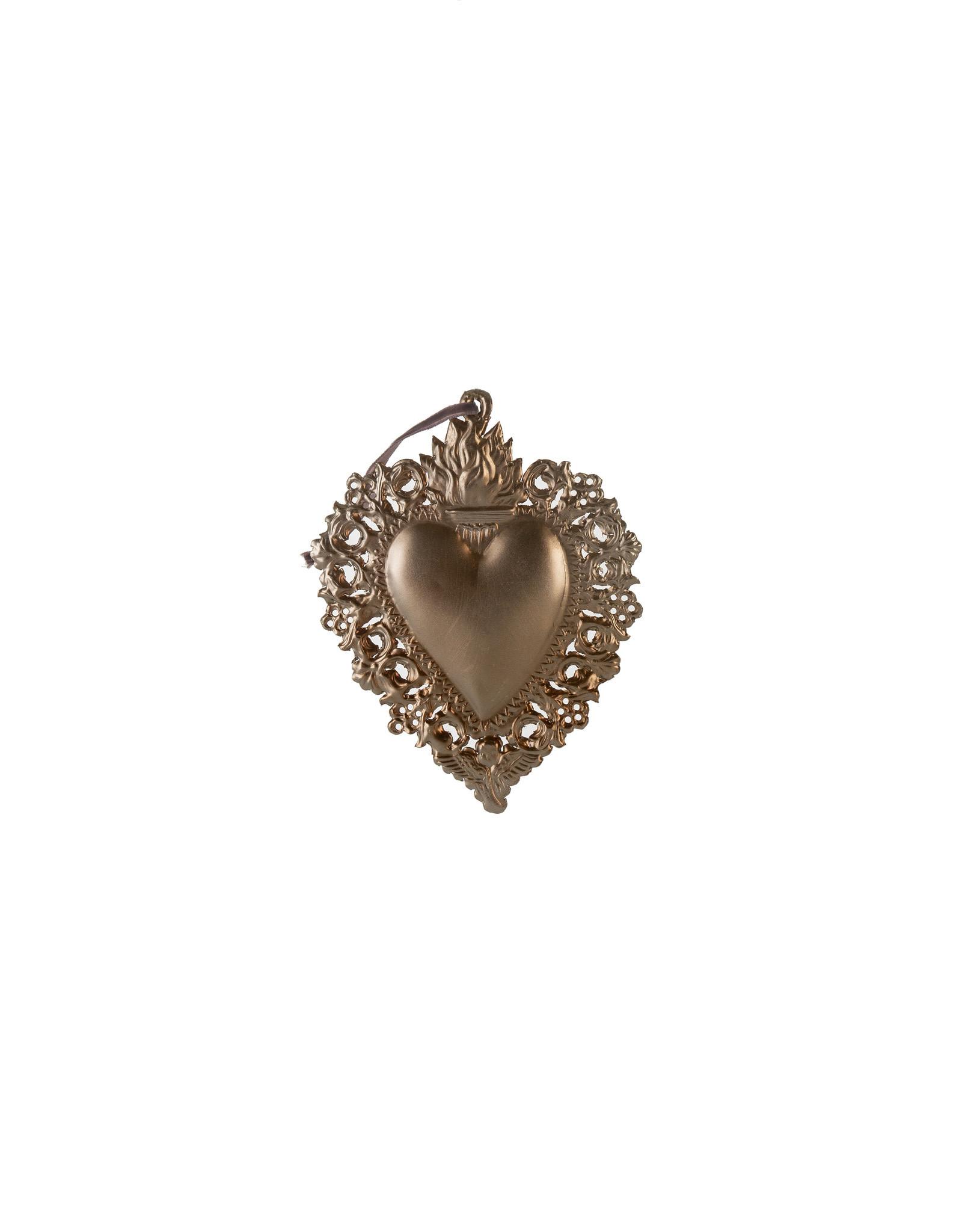 Indaba Small Milagro Heart Ornament
