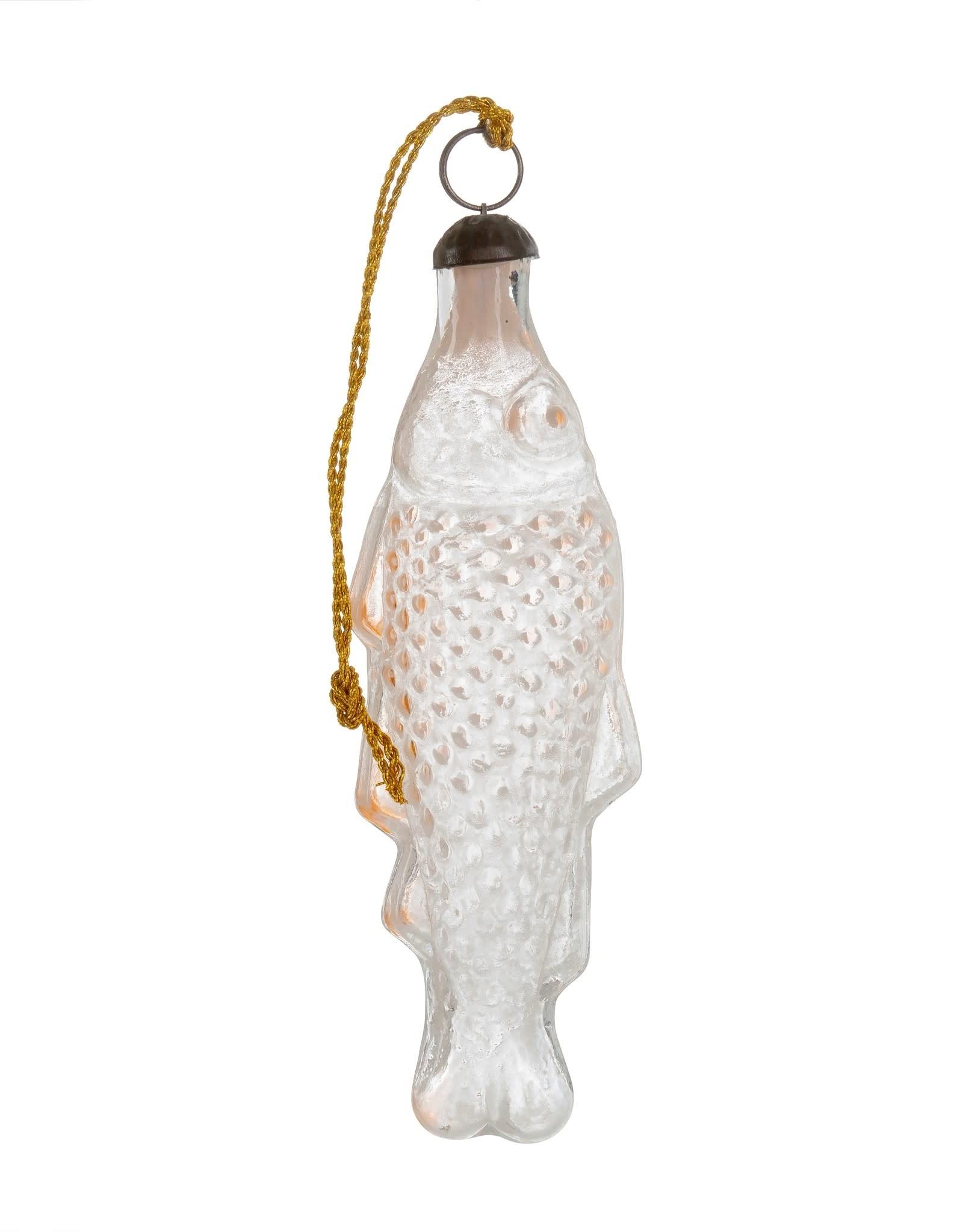 Indaba Vintage Bottle Fish Ornament - Pink