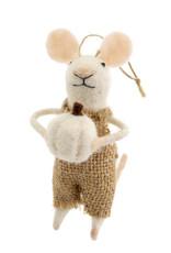 Indaba Harvest Harold Mouse Ornament