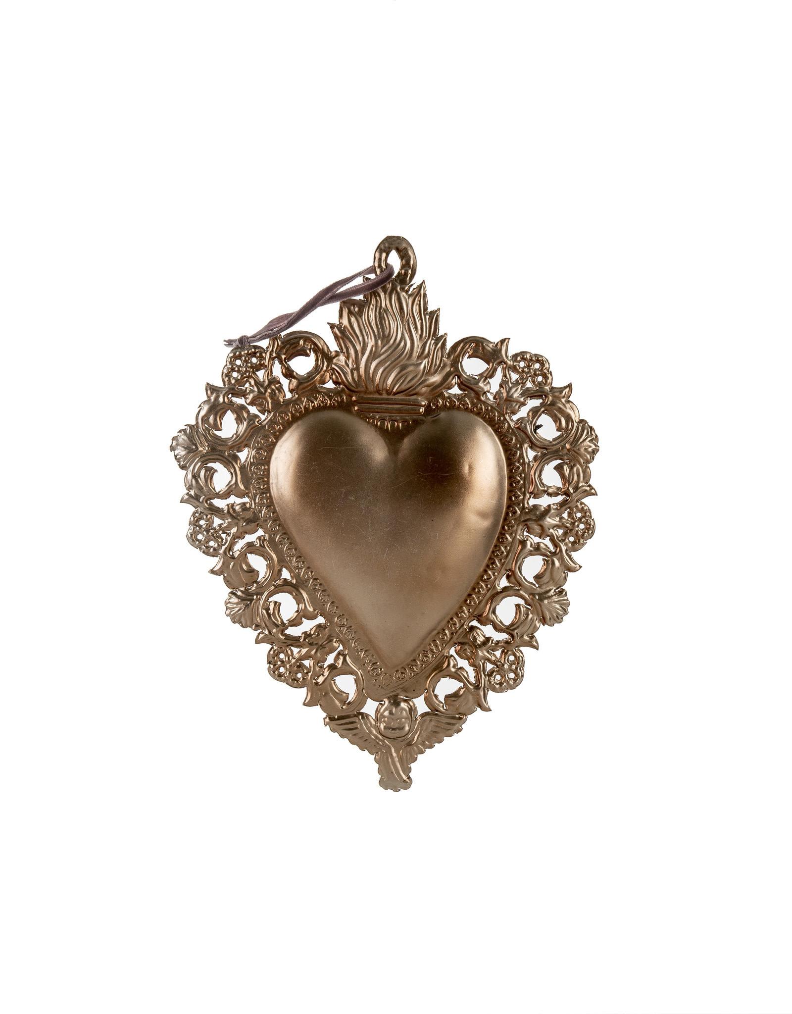 Indaba Medium Milagro Heart Ornament