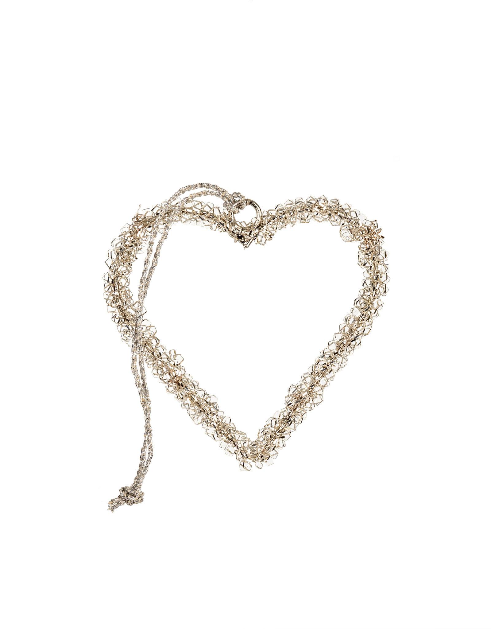Indaba Tinsel Heart Ornament