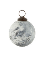 Indaba Green Marbled Ornament