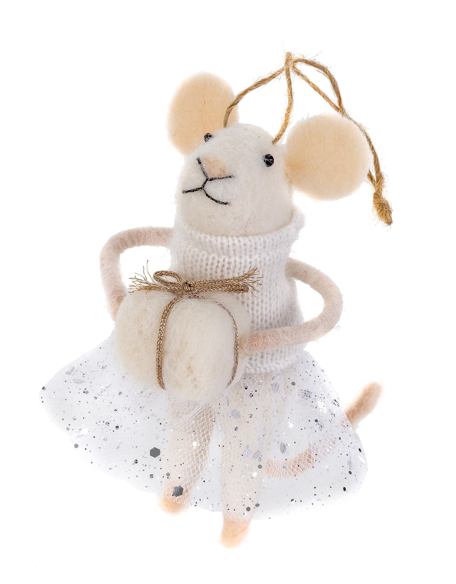 Indaba Yuletide Yola Mouse Ornament
