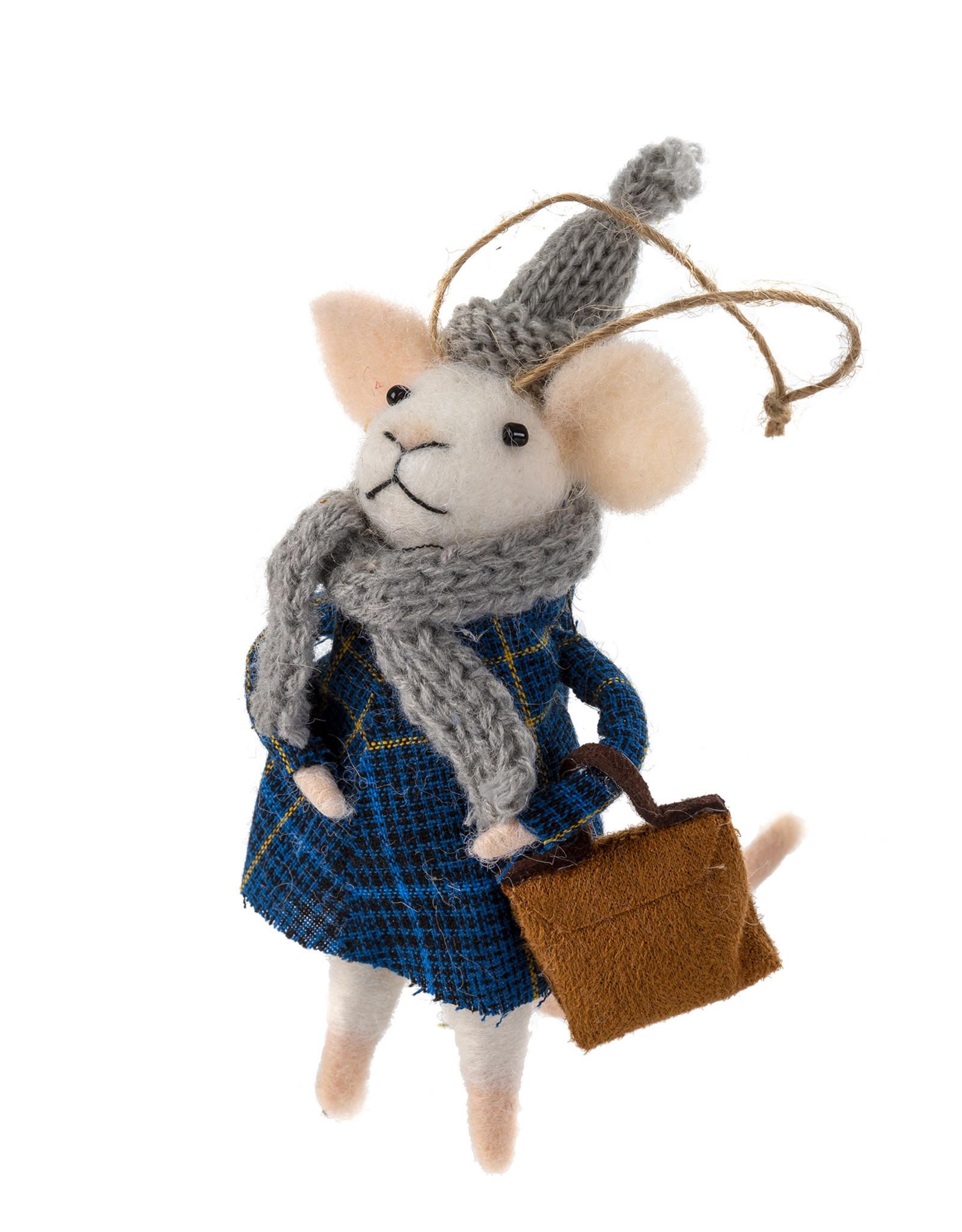 Indaba Hipster Hudson Mouse Ornament