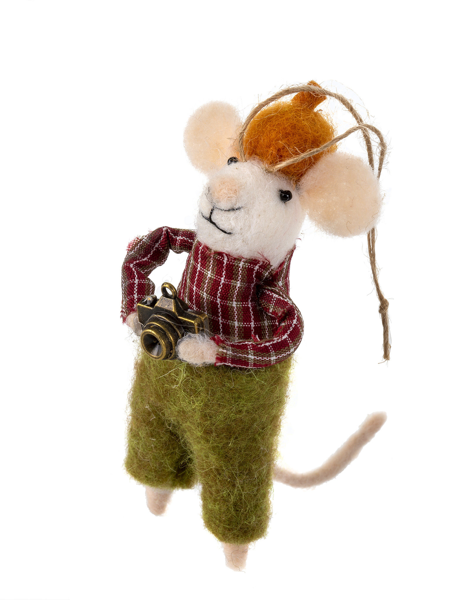 Indaba Hipster Harry Mouse Ornament