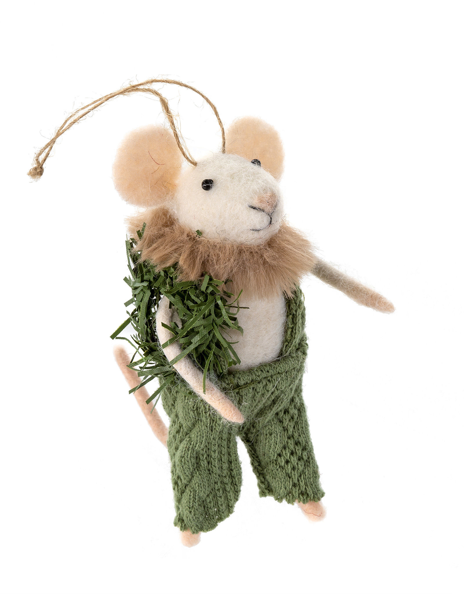 Indaba Winter Wilson Mouse Ornament