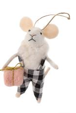 Indaba Gingham Gabe Mouse Ornament