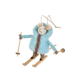 Indaba Powder Percy Mouse Ornament