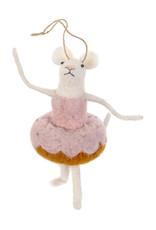 Indaba Doughnut Dancer Mouse Ornament