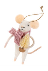 Indaba Jolly Josie Mouse Ornament
