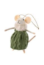 Indaba Winter Willa Mouse Ornament