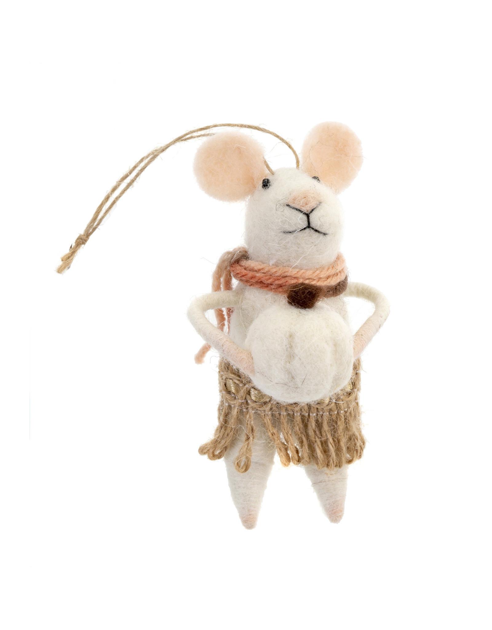 Indaba Harvest Harriet Mouse Ornament