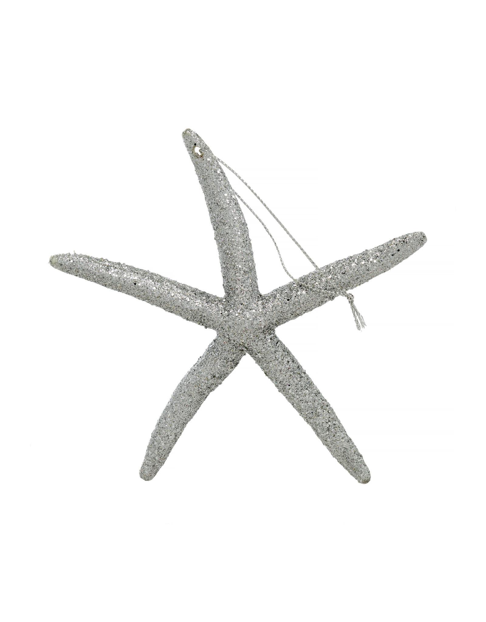 Indaba Sparkly Sea Star Ornament - Silver