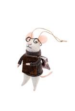 Indaba Biblio Bob Mouse Ornament