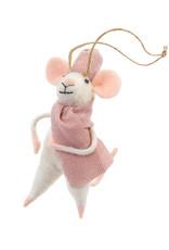Indaba Cozy Claudette Mouse Ornament