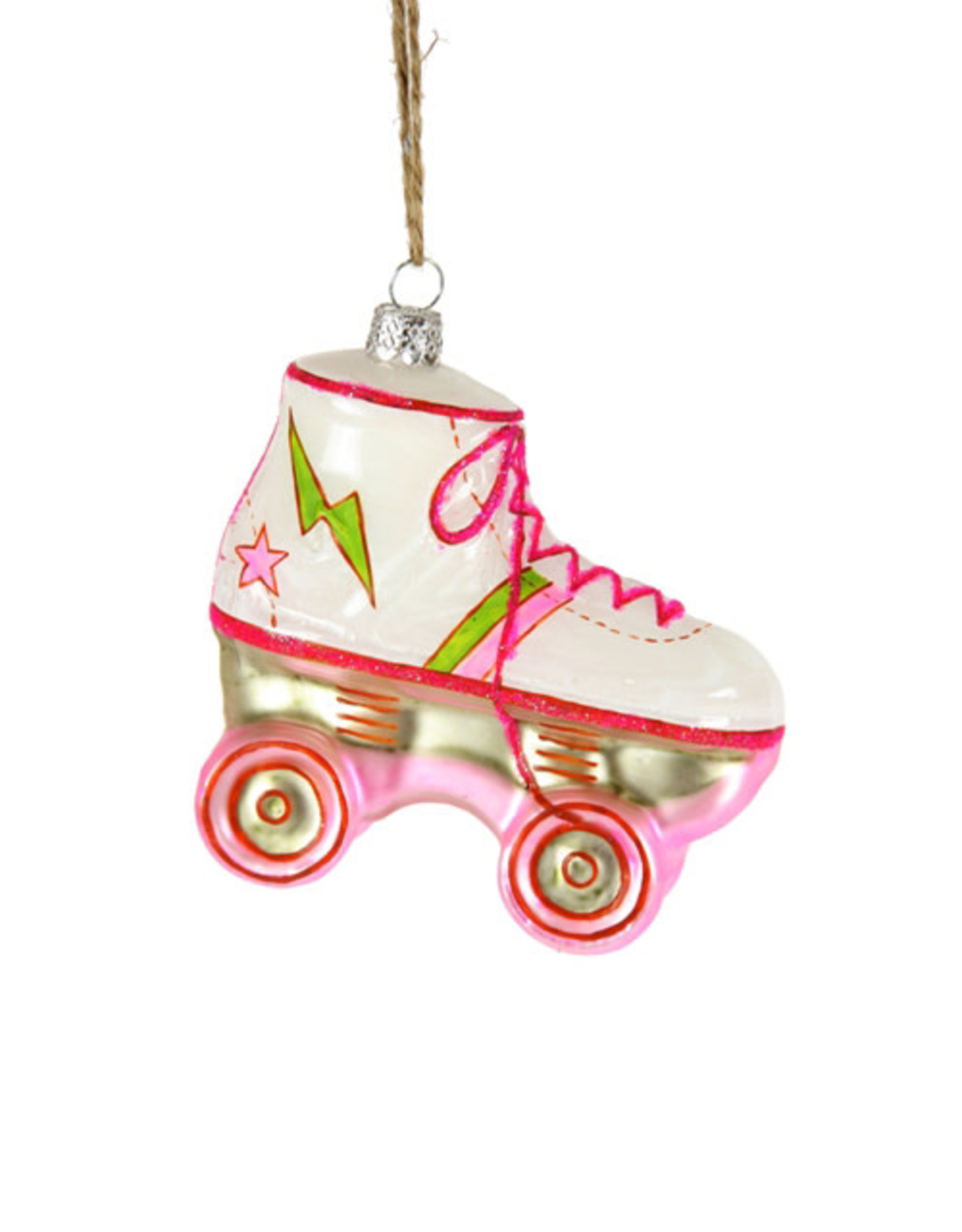 Cody Foster & Co. PINK ROLLERSKATE ORNAMENT