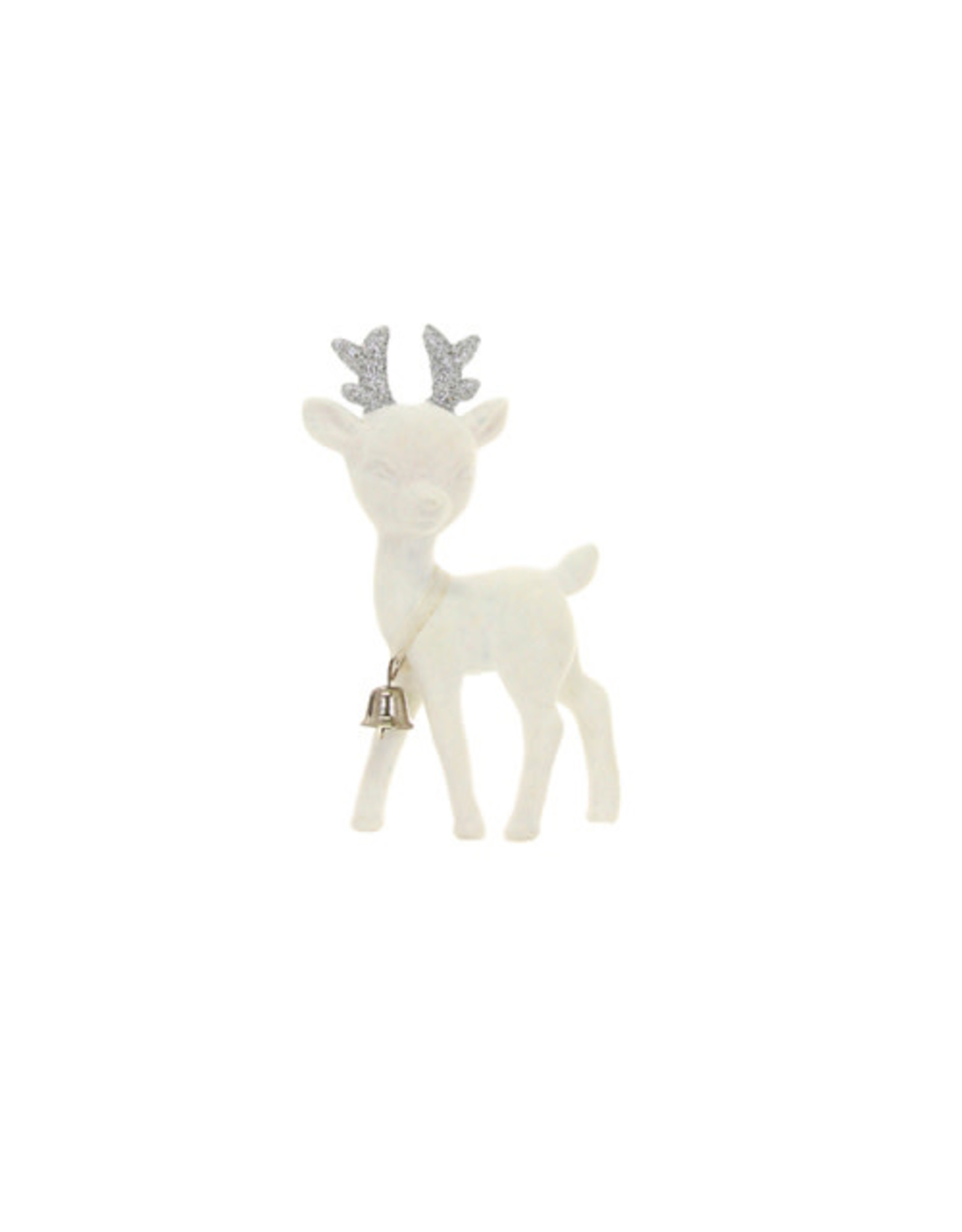 Cody Foster & Co. KITSCH DEER ORNAMENT - IVORY