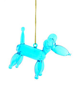 Cody Foster & Co. BALLOON POODLE ORNAMENT - BLUE