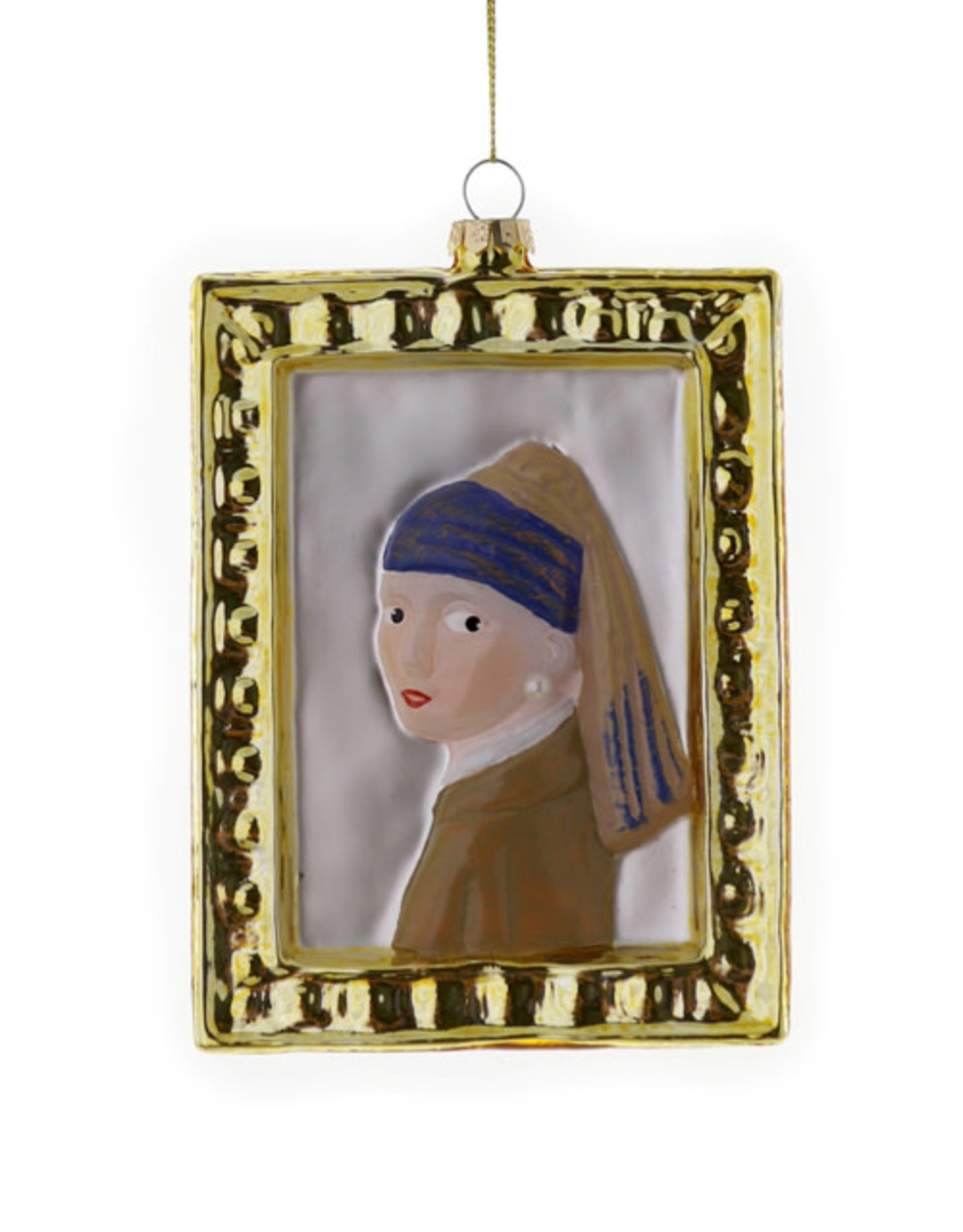 Cody Foster & Co. GIRL WITH A PEARL EARRING PAINTING ORNAMENT