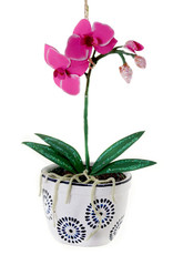 Cody Foster & Co. POTTED ORCHID ORNAMENT - PINK