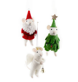 Cody Foster & Co. PREORDER - Single - MERRY XMAS MR MOUSE ORNAMENT - 3 ASST'D
