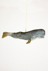 Cody Foster & Co. RECYCLED PAPER WHALE ORNAMENT