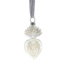 Cody Foster & Co. PREORDER - Small Sacred Heart Ornament - Ivory