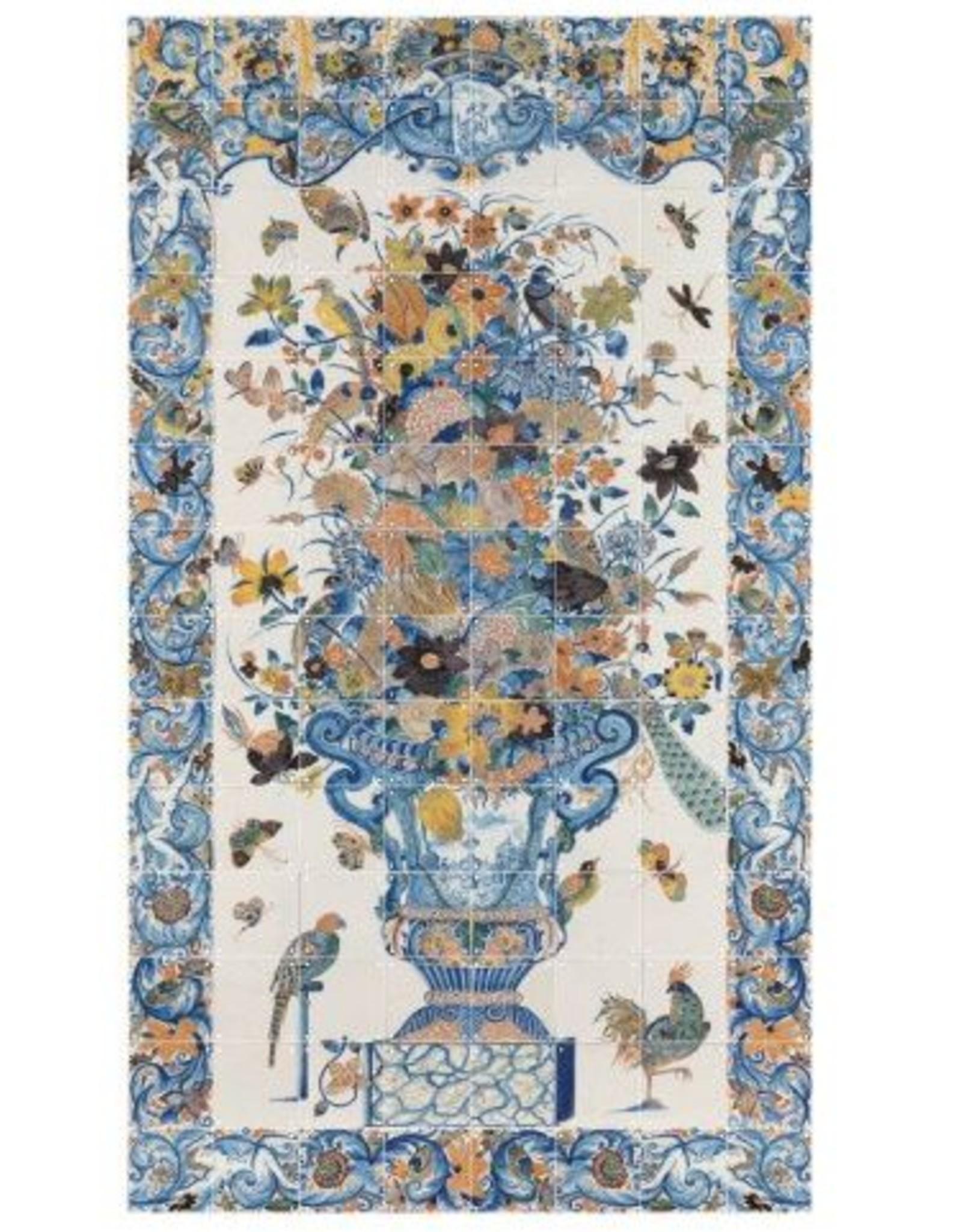 IXXI Tile Panel with Flowers - 112cm x 196cm