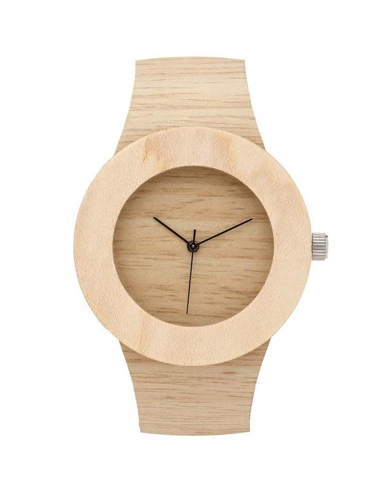 Analog Watch Co. Silverheart and Maple - No Hour Markings