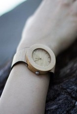 Analog Watch Co. Silverheart and Maple - With Hour Markings