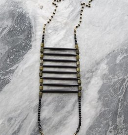 Ink + Alloy Vana - Black Chest Plate Necklace