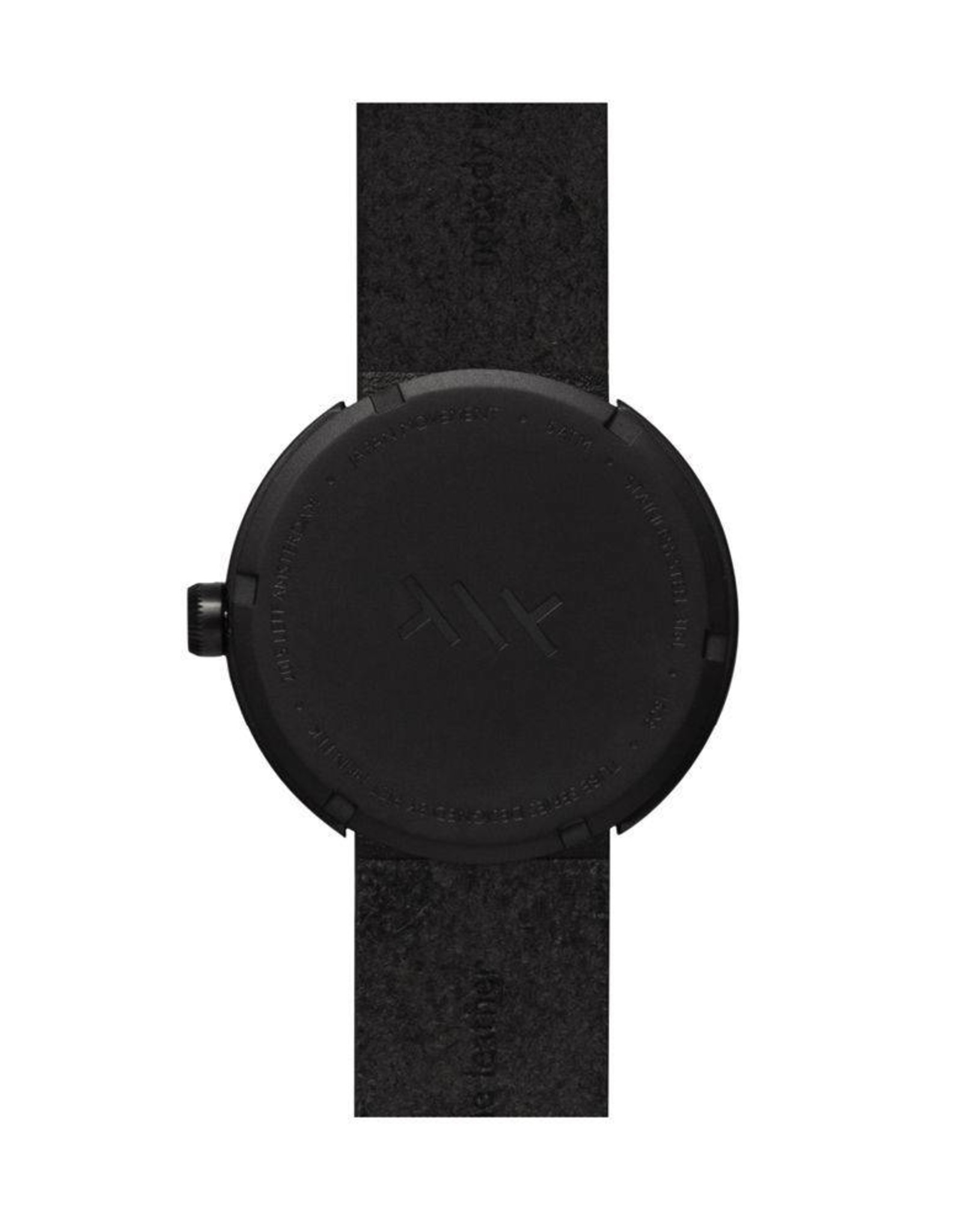 Leff Amsterdam Tube Watch D Leather - Black
