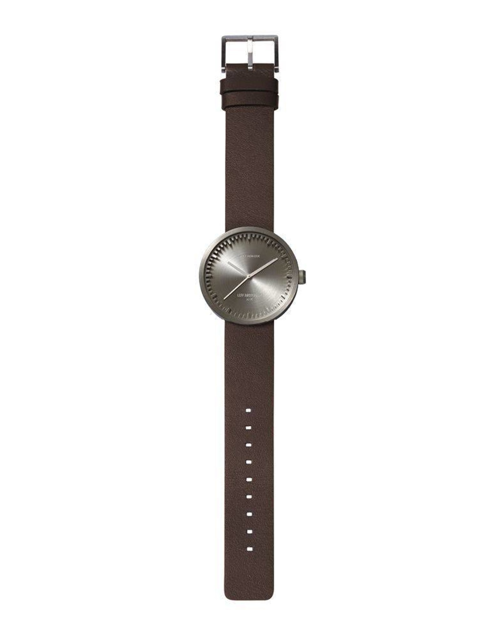 Leff Amsterdam Tube Watch D Leather - Steel