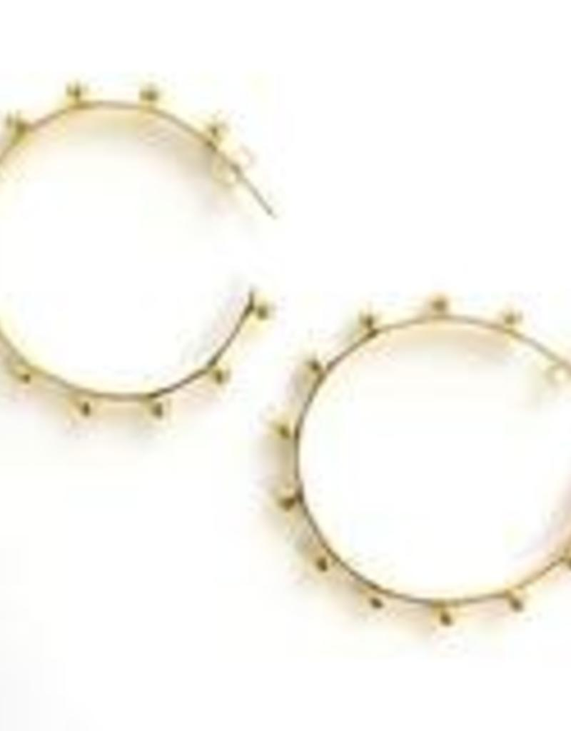 Addison Weeks Hardin Large Hoops - Gold