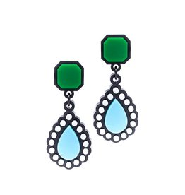 Finn Liz Earrings - Green
