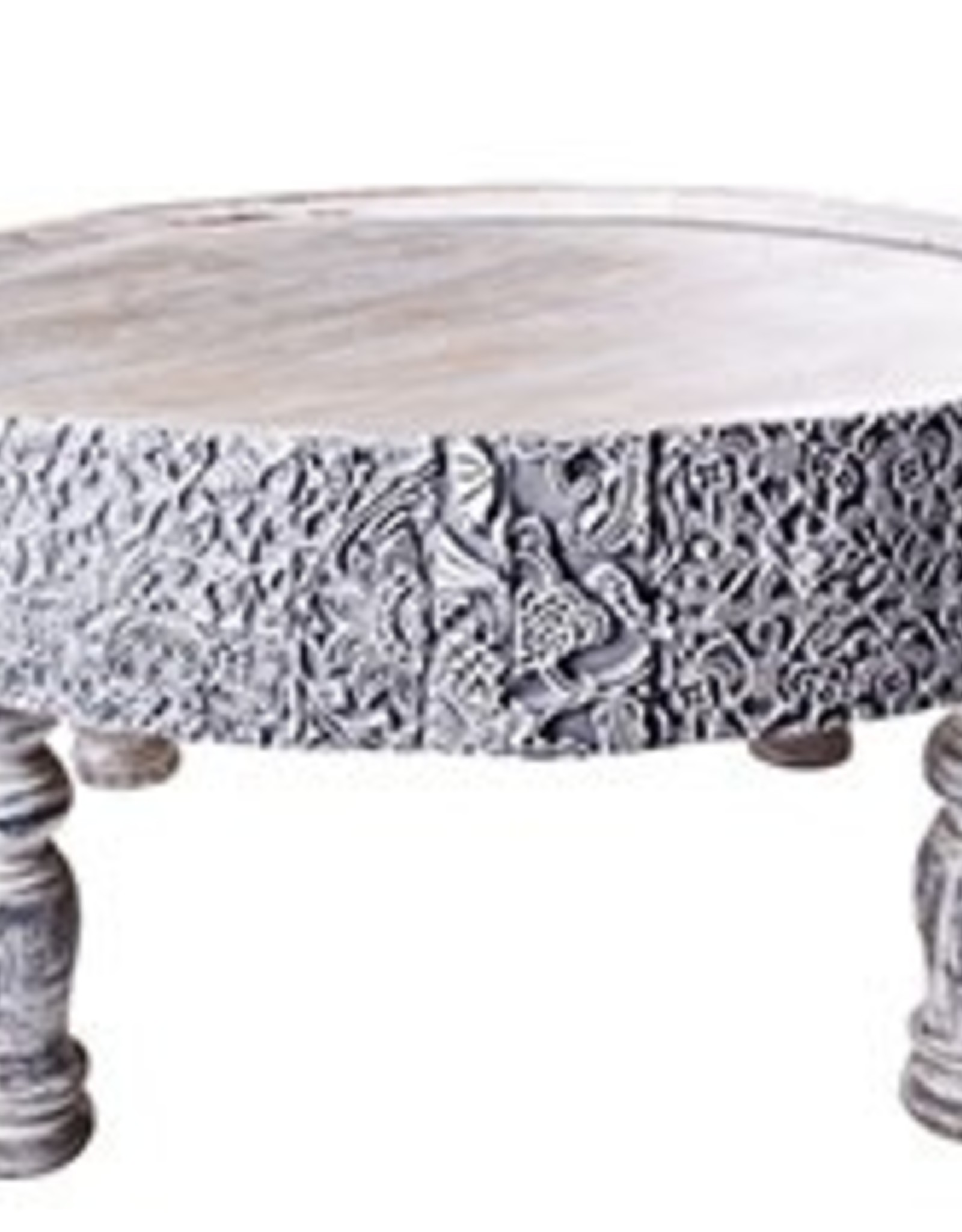 Nomads Table - Whitewash - Large