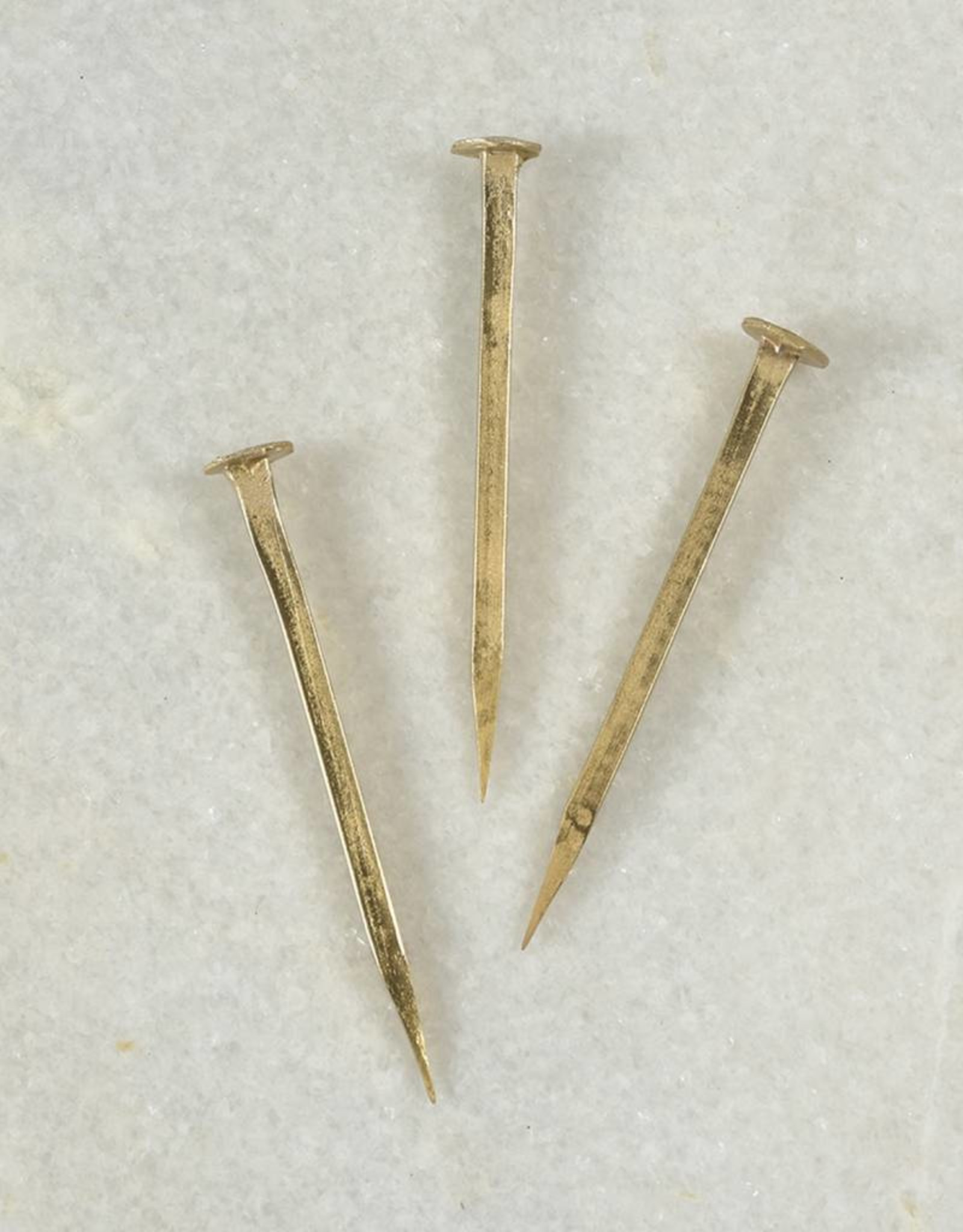Forged Iron Nail - Large - Brass