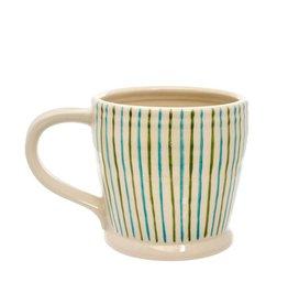 Blue Stiped Mug