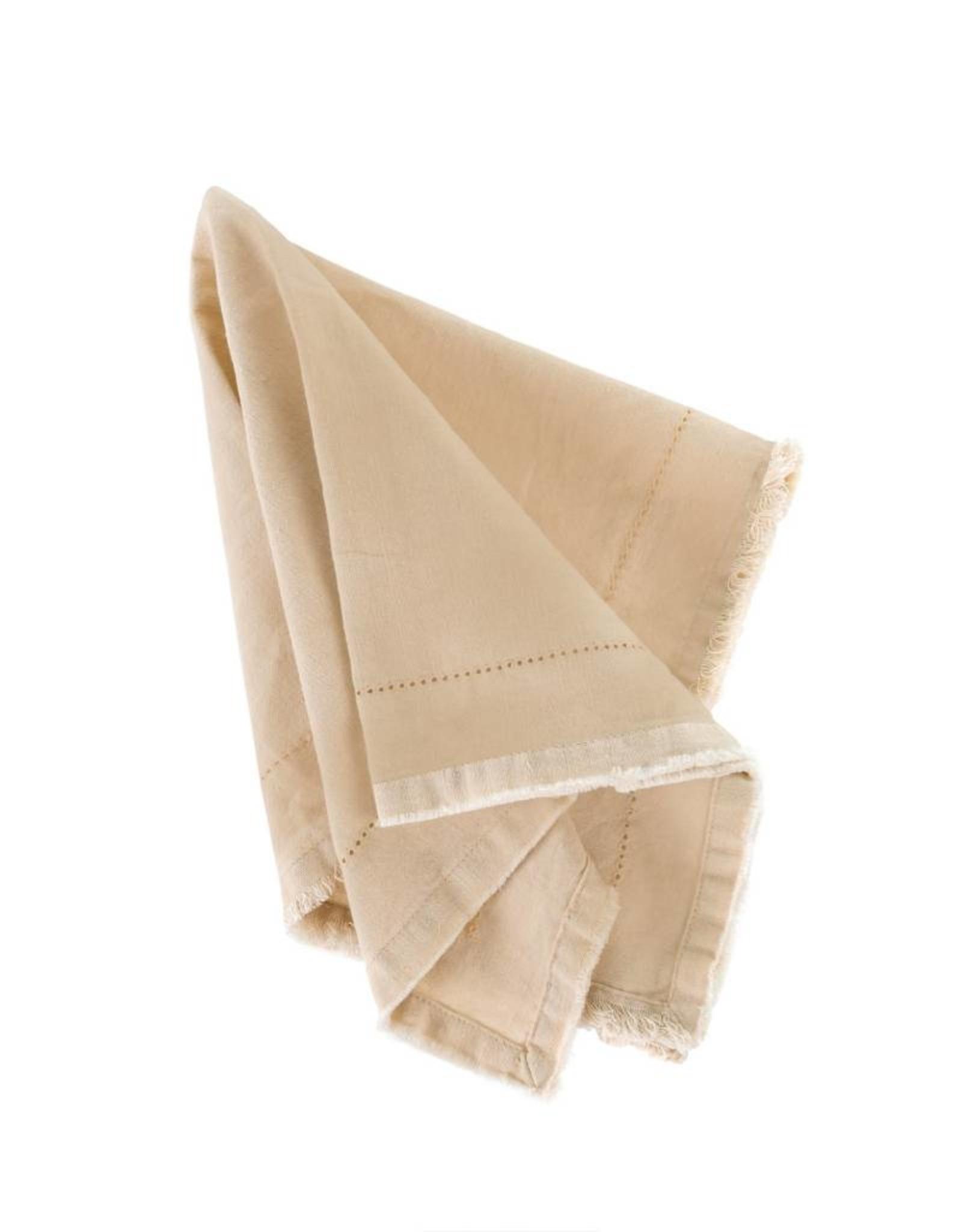 Indaba Frayed Edge Napkin - Cream