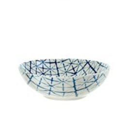 Light Blue Shibori Bowl - Medium