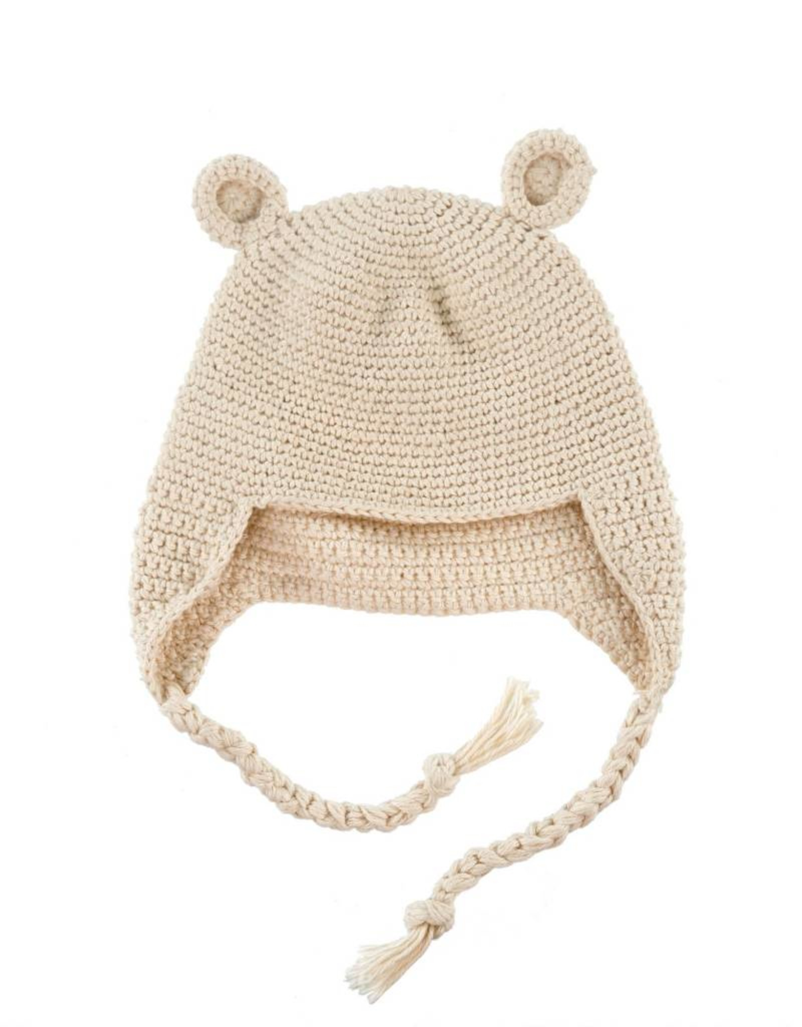 Crocheted Baby Bear Toque - Cream