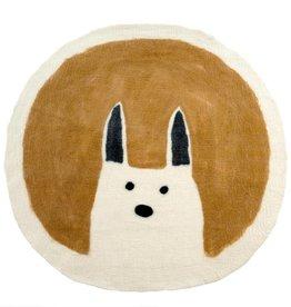 Indaba Curious Rabbit Felted Mat