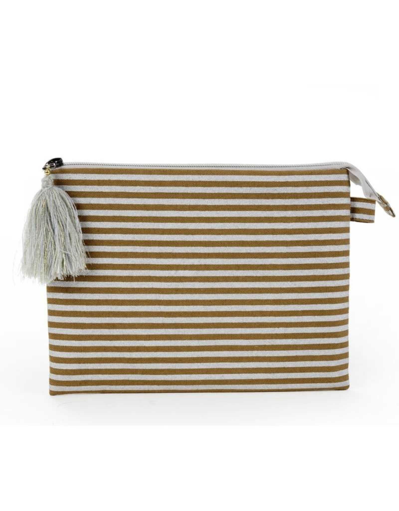 Indaba Silver Stripe Pouch - Large