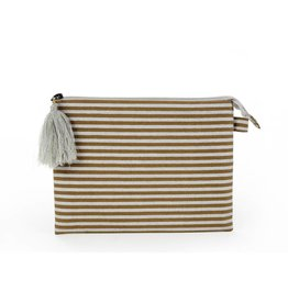 Silver Stripe Pouch - Large