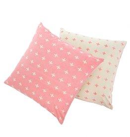 Swiss Cross Pillow - Pink